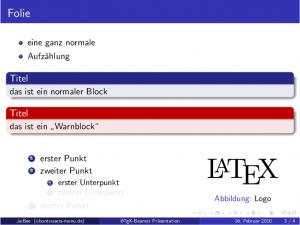 Beispiel einer LaTeX-Beamer-Folie